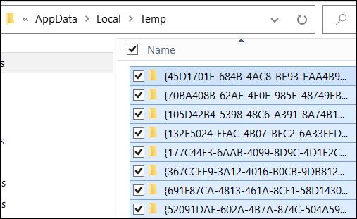 فایل temp